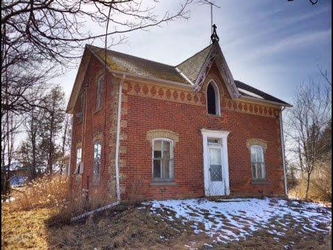 Urban Exploration Gothic Revival Style Abandoned Farm House 2