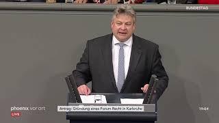 Bundestagsdebatte zur Gründung eines Forum Recht in Karlsruhe am 18.10.18