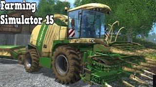 Farming Simulator 15 - Krone BIG X 1100 Combine Harvester + Cutter Trailer Test Drive