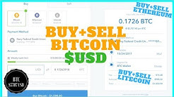 Easiest way to Buy and Sell Bitcoin with US Dollars BTC/USD + Ethereum + Litecoin