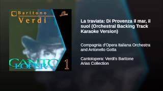 La traviata: Di Provenza il mar, il suol (Orchestral Backing Track Karaoke Version)