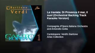 La traviata: Di Provenza il mar, il suol (Orchestral Backing Track Karaoke Version)