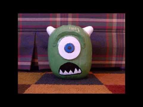 Pumpkin Painting: Painting a Mike Wazowski Pumpkin From Monsters Inc University!