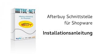 TBE Afterbuy Plugin für Shopware - Installation der Afterbuyschnittstelle als Plugin