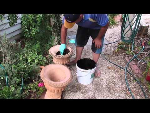 Waterproofing Terracotta Pots With Liquid Rubber