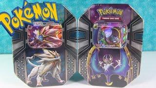 Opening Pokemon Solgaleo GX & Lunala GX Tin Cards | PSToyReviews