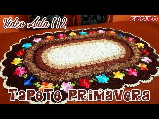 Tapete Primavera em crochê 1/2 | Carla Cristina & Crochet HD