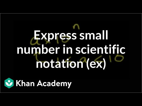 Express a small number in scientific notation (example) | Pre-Algebra | Khan Academy