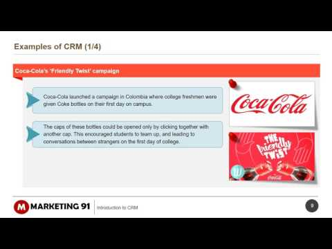Introduction to CRM - Examples of CRM
