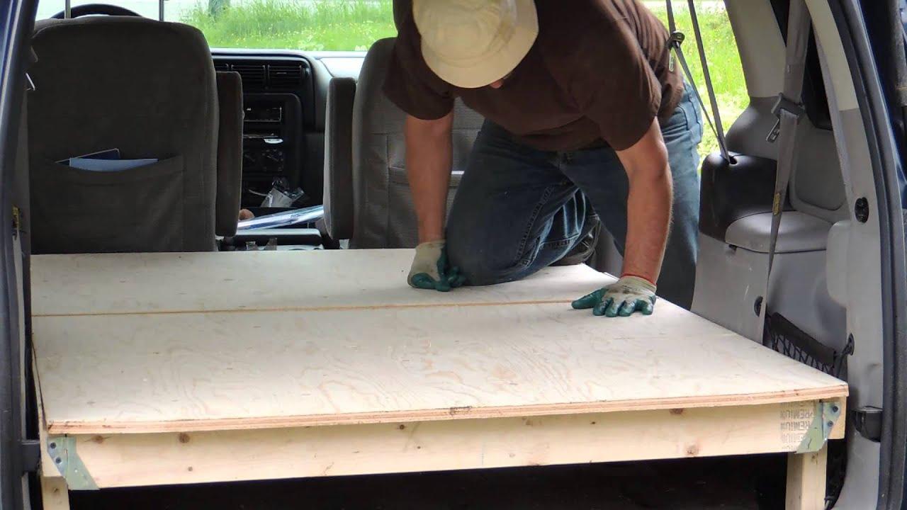 Install Minivan floor for camping
