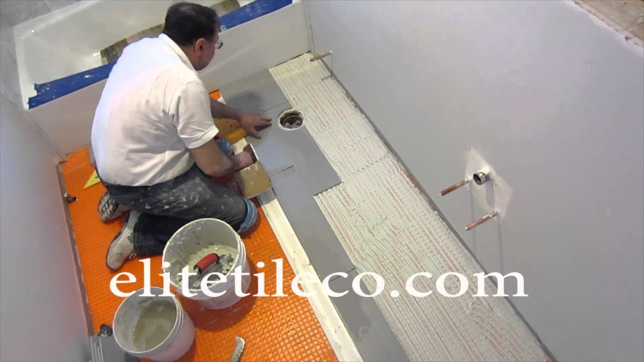 Part 7 How to install wood look plank tile on Schluter Ditra ...