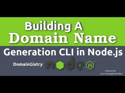 Building Domain Name Generation CLI  with NodeJS [ DomainGistry]
