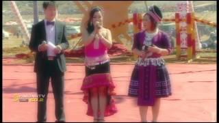 HMONGWORLD: KABYEEJ VAJ talks to MAIV XYOOJ on stage during Hmong Int'l Hauvtoj in China
