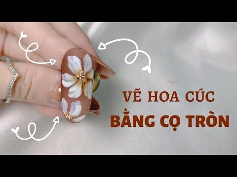Vẽ Hoa Cúc Bằng Cọ Tròn - Học Vẽ Hoa Cho Người Mới Học Nails