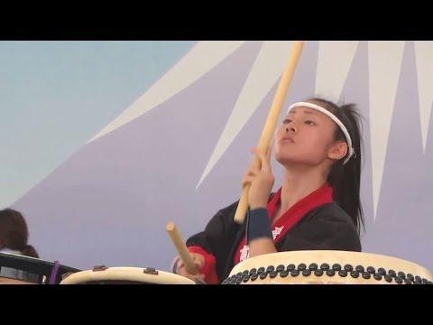 飛�高校 和太鼓部 -  第3回全国高校生太鼓甲�園 富士山太鼓��り