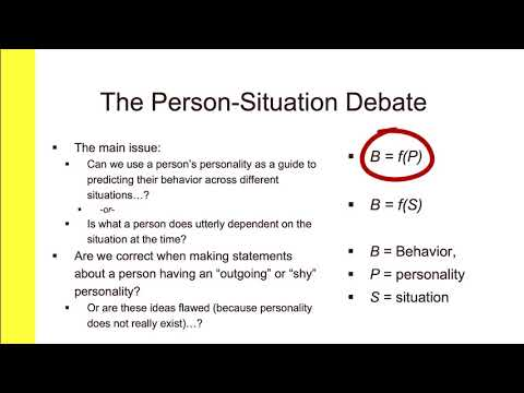 CH 4.1 Person Situation Debate