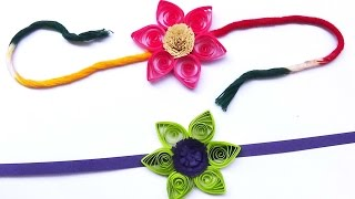 paper quilling:Handmade beautiful flower Rakhi Idea You Must Try