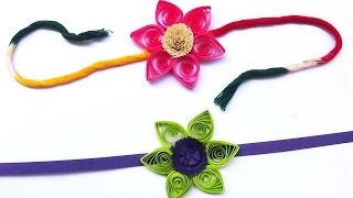 paper quilling:Handmade beautiful flower Rakhi Idea You Must Try