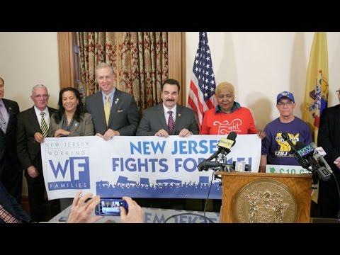 Prieto, Wisniewski & Schaer News Conference Calling for Increasing NJ's Minimum Wage to $15