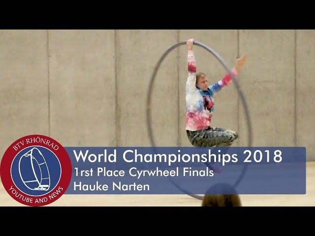 World Championships in Gymwheel 2018 Cyrwheel Final Hauke Narten