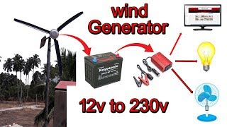 How to Make Wind Turbine Generator with Using a ceiling fan DIY / Free Energy