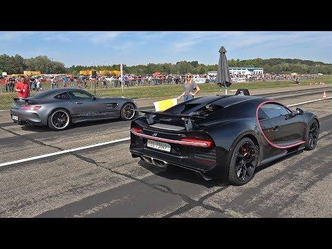 1500HP Bugatti Chiron vs 760HP RENNtech Mercedes-AMG GTR
