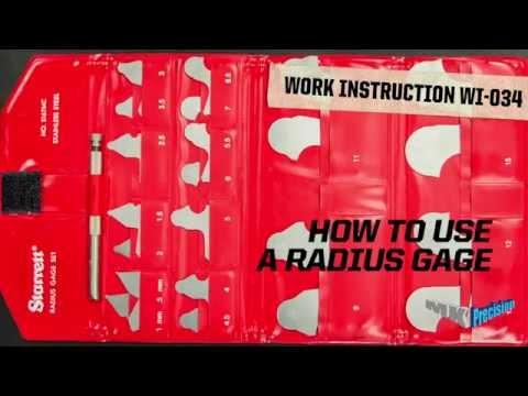 MK Precision Work Instruction WI-034 Using a Radius Gage