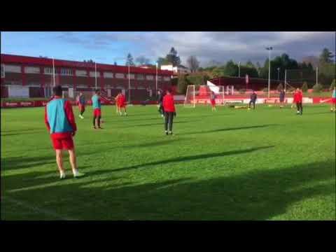 Entrenamiento del Sporting: Santos Vuelve con el Grupo