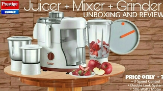 Prestige Champ 550w Juicer Mixer Grinder || Unboxing-Review