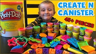 RIESIGE Playdoh Erstellen n Kanister 45 Stück 20 Töpfe Überraschung Spielzeug Video Für Kinder Kleinkinder