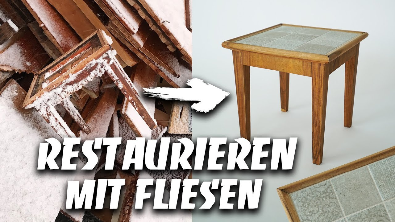Mobel Restaurieren Anleitung Fliesen Verlegen Auf Mobel Holzbehandlung Mit Ol Easy Alex
