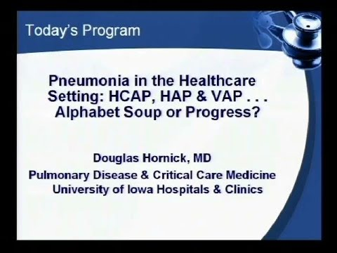 Pneumonia in the Healthcare Setting- Dr. Douglas Hornick, 2/26/14