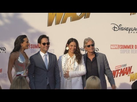 On the red carpet with Michael Douglas, Evangeline Lily and Paul Rudd