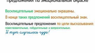 Предложения по эмоциональной окраске (5 класс, видеоурок-презентация)