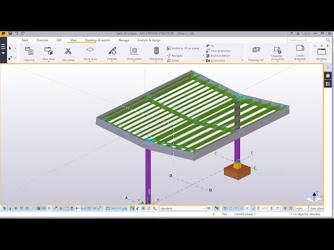 Gas Station Structure Modelling in TEKLA STRUCTURES 2016