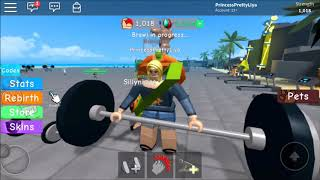 Roblox: Weight Lifting Simulator... Muscle Up!!