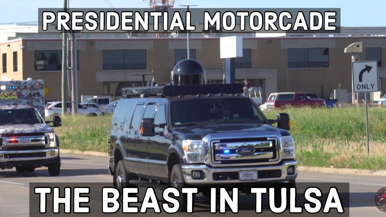 President Trump's Police/Secret Service led Motorcade Tulsa Oklahoma 06-20- 2020 in Glorious 4K!!!