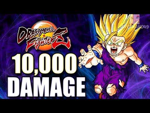 10 000 damage with the best super saiyan 2 ever dragon ball fighterz teen gohan cell - Super sayen 10000 ...