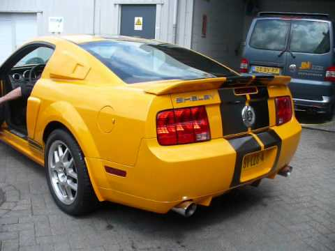 Ford Mustang Shelby Gt500 Yellow Starts Up Youtube