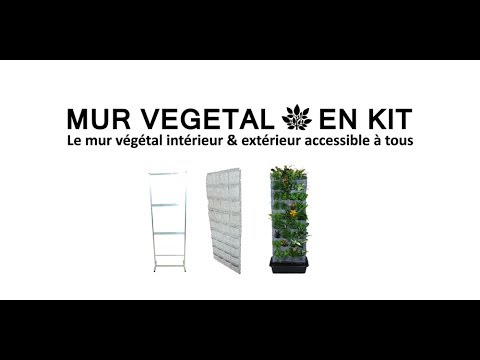le mur vegetal en kit youtube. Black Bedroom Furniture Sets. Home Design Ideas
