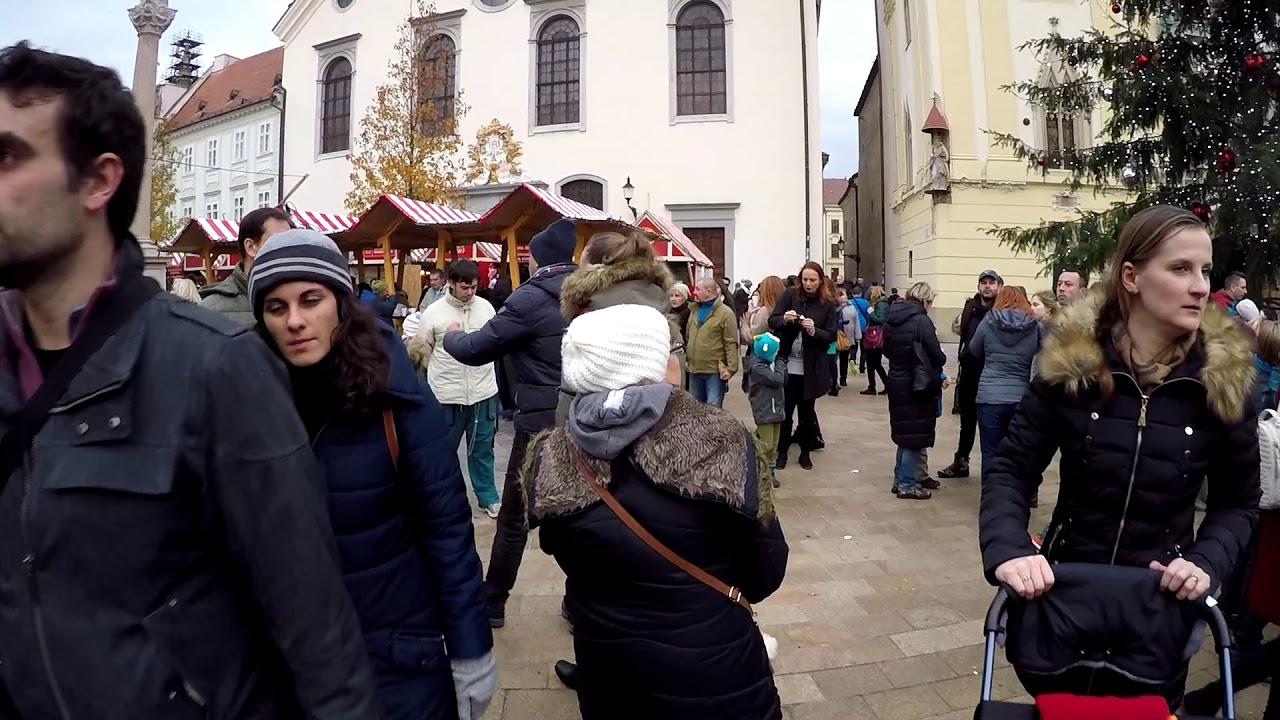 ad2cc9349 Vianočné trhy . Christmas market - Bratislava Slovakia 2017 - YouTube
