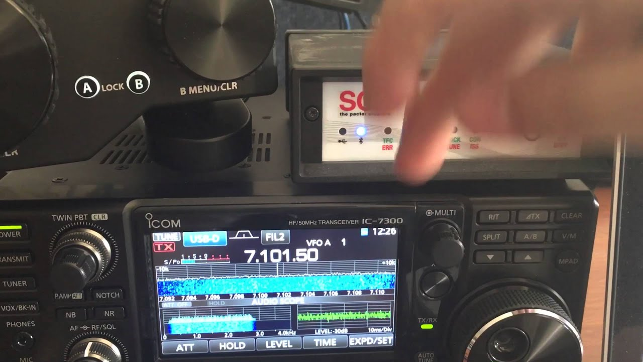 ICOM IC-7300 WinLink Pactor Duty Cycle Test - YouTube