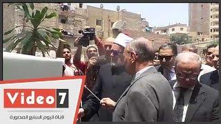بالفيديو..على جمعة ورئيس جامعة عين شمس يضعون حجر الأساس لقسم طب وصحة المسنين