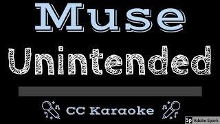 Muse • Unintended (CC) [Karaoke Instrumental Lyrics]