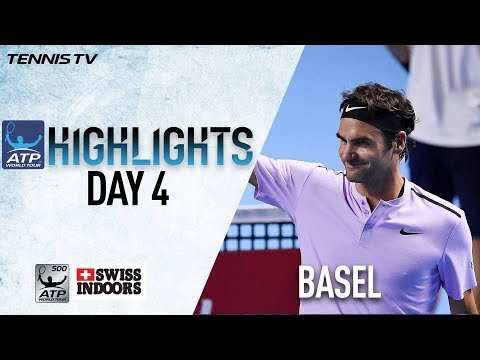 Highlights: Federer Cruises Into 15th Basel QFs 2017