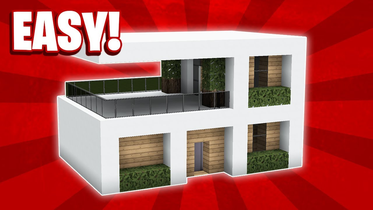 Minecraft : How To Build a Small Modern House Tutorial (#10)
