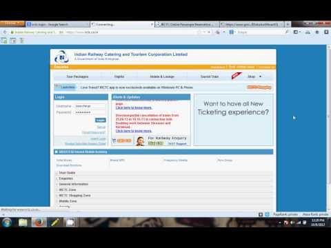 IRCTC Login in Most Easy Way