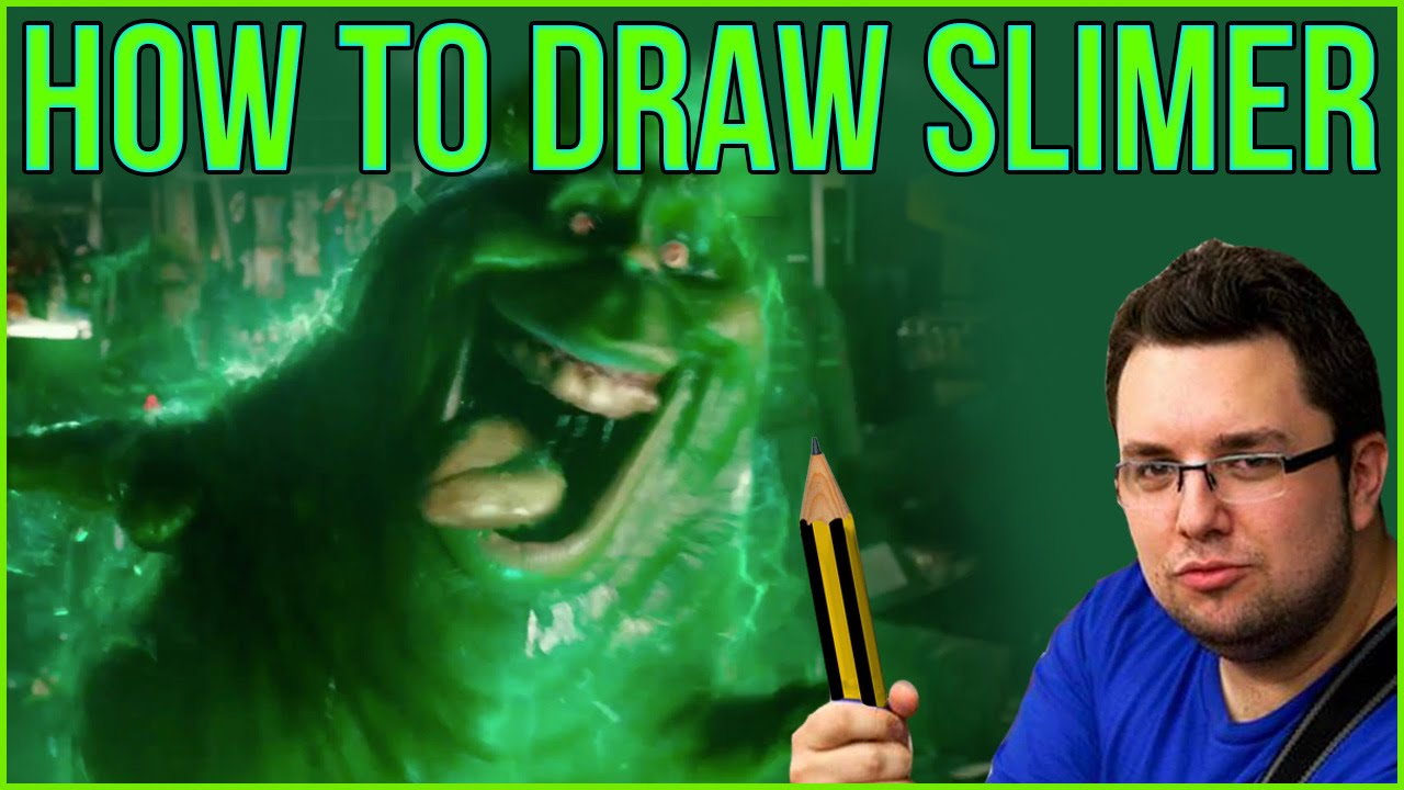 How To Draw Slimer From Ghostbusters Youtube