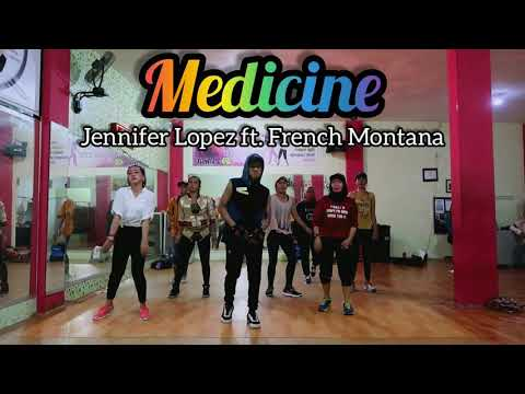 Jennifer Lopez ft French Montana- Medicine  ZUMBA  DANCE  FITNESS  D&39;One Studio Balikpapan