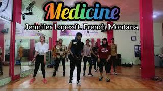 Jennifer Lopez ft. French Montana- Medicine || ZUMBA || DANCE || FITNESS || D'One Studio Balikpapan